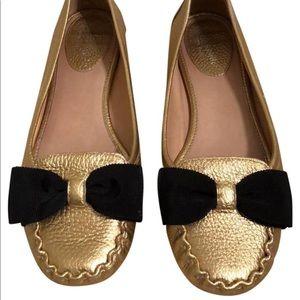 Kate Spade Gold Sassy Flats (7.5)